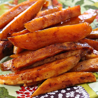 Roasted Sweet Potatoes with Honey & Cinnamon Glaze