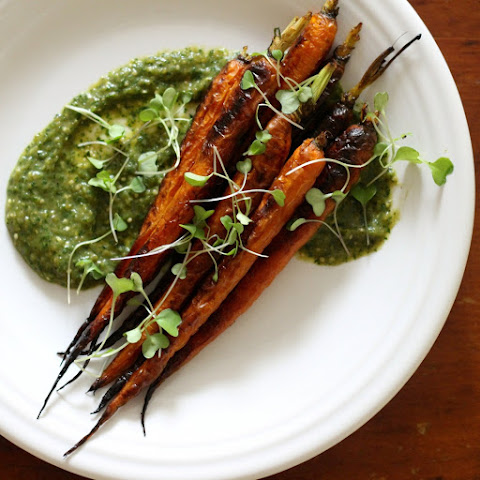 Commissary's Carrots with Spicy Tomatillo Sauce
