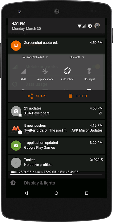Black MTRL - Dark Orange CM13 Screenshot 3