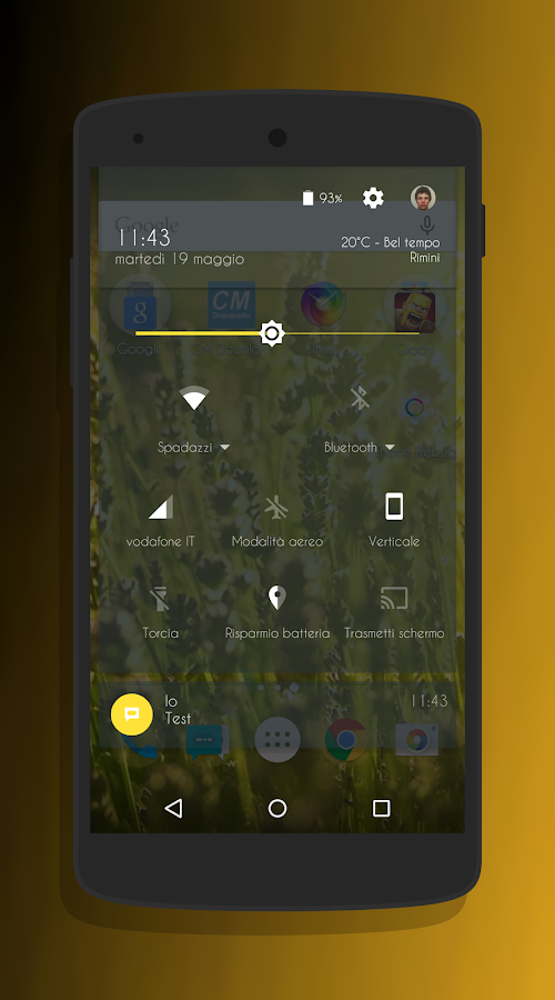Transparent Gold - CM13 Theme Screenshot 2