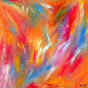by Zoritza  Wejnfalk - Painting All Painting ( fenix, rising, abstract art, zoritza, wejnfalk )
