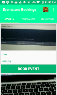 Events and Bookings - screenshot
