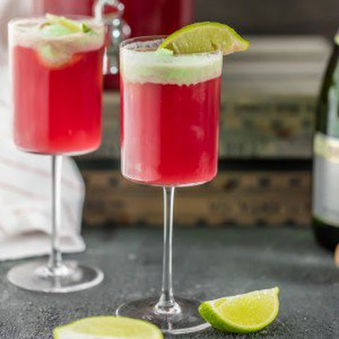 Cranberry Limeade Holiday Champagne Punch