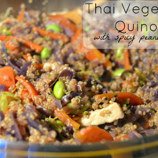 Thai Vegetable Quinoa Bowl with Spicy Peanut Sauce