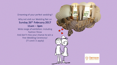 Swindon Registry Office Wedding Show, Sunday 26th February 11-3pm