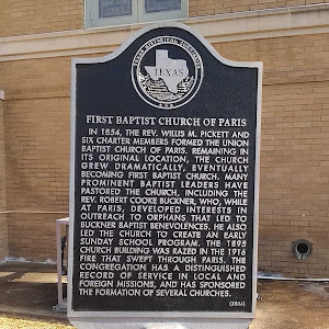 In 1854, the Rev. Willis M. Pickett and six charter members formed the Union Baptist Church of Paris. Remaining in its original location, the church grew dramatically, eventually becoming First ...