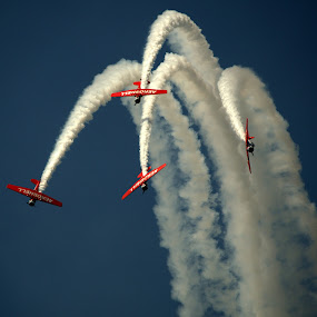 Air Show  by Larry Bidwell - Transportation Airplanes (  )