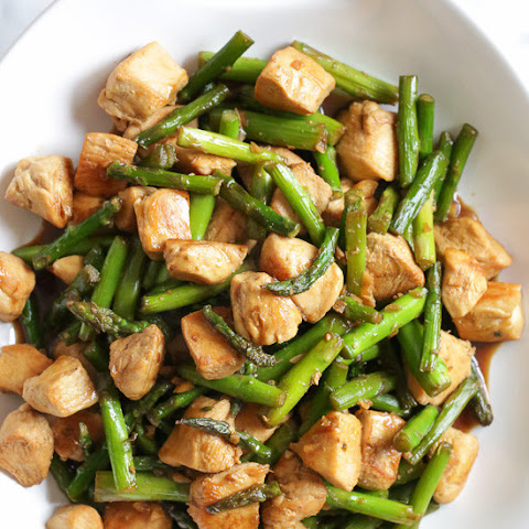 Chicken and Asparagus Teriyaki Stir-Fry