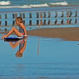 Girl On Beach by Jeannine Jones - Babies & Children Children Candids
