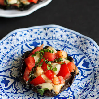 Grilled Caprese Stuffed Portobello Mushrooms
