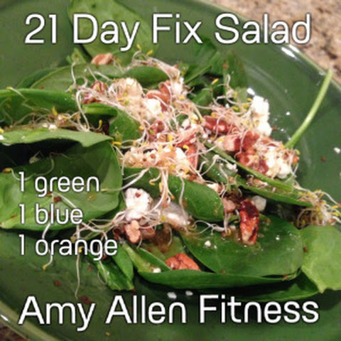21 Day Fix Salad with Homemade Balsamic Dressing