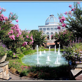Lewis Ginter Botanical Garden  by Maritza Féliz - City,  Street & Park  City Parks ( structure, park, colorful, fountain, plants, flowers, garden )