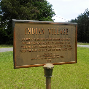 On this site granted by the Spanish Government dwelled Tusquahoma, Chief of a Choctaw Indian tribe of fifty families, from about 1785 to 1825 when the land was sold and the tribe moved west.         ...