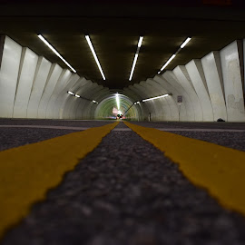 TunnelVision by Nick Arena - Buildings & Architecture Other Exteriors ( street, night, landscape, photography, tunnel )