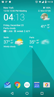 App Transparent clock & weather APK for Windows Phone