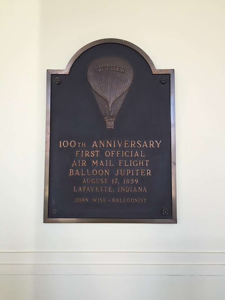 Jupiter 100th Anniversary First Official Air Mail Flight Balloon Jupiter August 17, 1859 Lafayette, Indiana John Wise - Balloonist Submitted by: Melissa McCurley