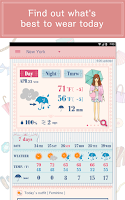 Screenshot of OshareWeather - For cute girls