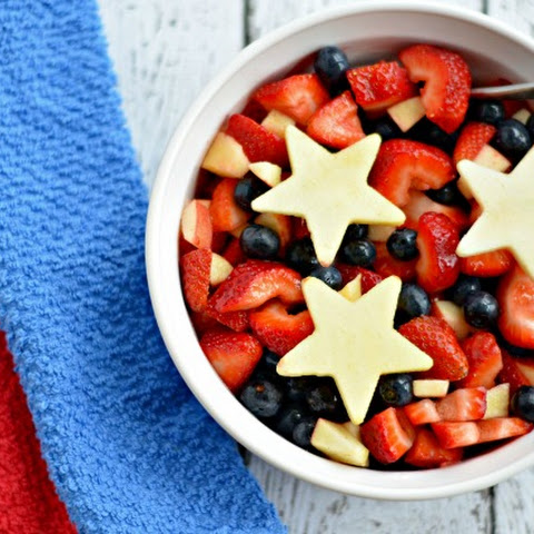 Red White & Blue Patriotic Fruit Salad