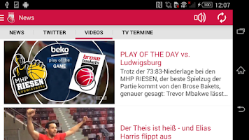 Screenshot of Brose Baskets