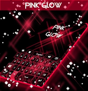 Pink Glow GO Keyboard - screenshot