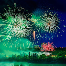 Firework Celebrations by Joseph Law - Public Holidays July 4th