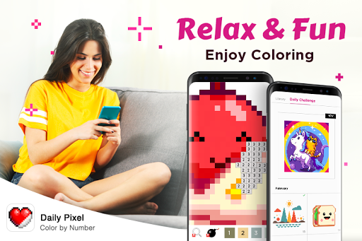 Daily Pixel – Color by Number, Coloring Book Free For PC