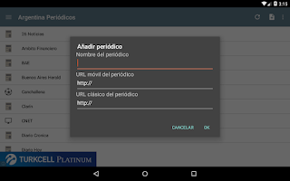 Screenshot of Argentina Periódicos