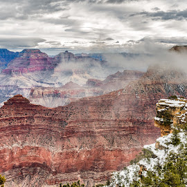 Grand Canyon Two by Carl Albro - Landscapes Mountains & Hills ( clouds, mountains, valley, grand canyon )