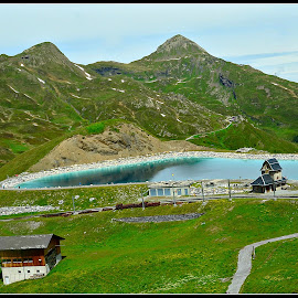 Blu Lake in the Alps by Prasanta Das - Landscapes Mountains & Hills ( mountains, blue lake, alps )