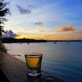 Sunsets and tequila  by Hayley Moortele - Food & Drink Alcohol & Drinks ( #tequila, #mauritius, #scenic, #colours, #sunset )