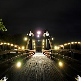Tridge by Kellie Prowse - Buildings & Architecture Bridges & Suspended Structures ( night photography, midland, tridge, bridge, mi )