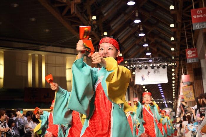 第61回よさこい祭り☆本祭2日目・はりまや橋競演場38☆上1目1462
