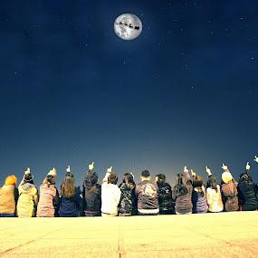 santa and moon by Sandy Boentarya - People Street & Candids