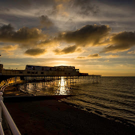 Golden sunset by Elaine Delworth - Landscapes Sunsets & Sunrises