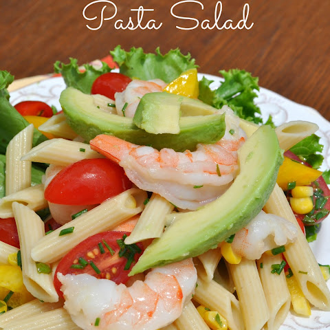 Shrimp and Avocado Pasta Salad