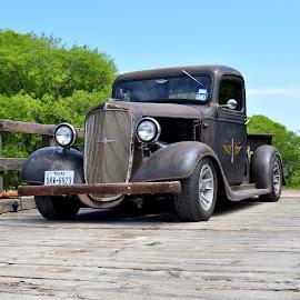 Wooden Railroad Bridge by Kevin Dietze - Transportation Automobiles