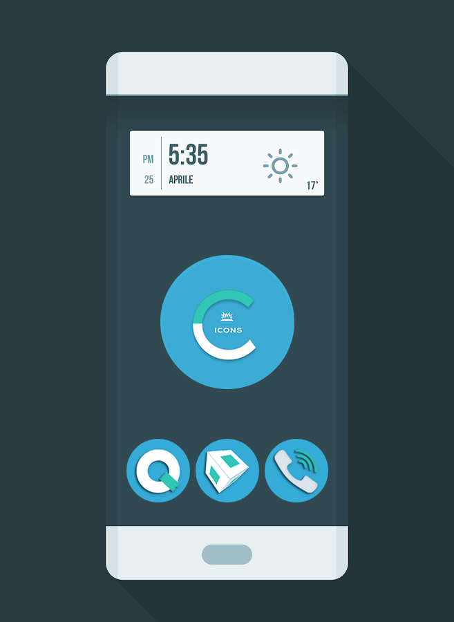 OJ Cyan - Round Icon Pack Screenshot 0