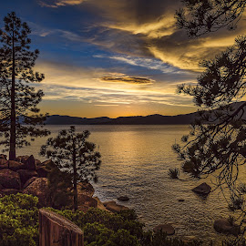 Tahoe Sunset by Lee Molof - Landscapes Sunsets & Sunrises