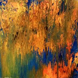 GOLDEN RAIN by Zoritza  Wejnfalk - Painting All Painting ( abstract art, modern art. zoritzasaart, zoritza, wejnfalk )