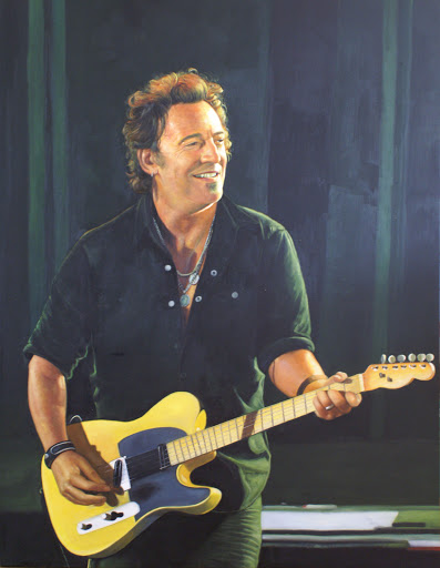 Bruce Springsteen - Olieverf op Canvas - 90 x 120 cm