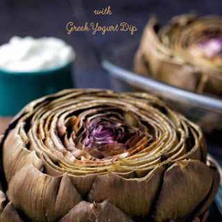Owen Roasted Artichoke with Greek Yogurt Dip