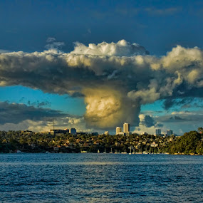 Mexican Sombrero by Peter Cannon - Landscapes Waterscapes ( water, canon, clouds, sea, ocean, landscape, waterscapes, city, sky, blue, australia, cloudscapes, sydney )