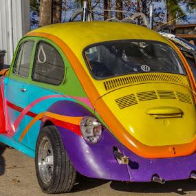 Colorful Bug by Jim Harris - Transportation Automobiles ( vw, colorful, bug, antique, classic )