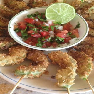 Crunchy Beer-Battered Avocado Fries With Salsa