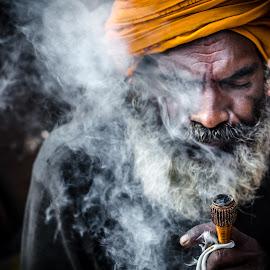 Sadhu Baba by Anuruddha Das - People Portraits of Men ( kolkata, ganges, festival, ocean, men )