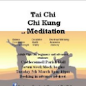 Course: Tai Chi Chi kung and Meditation Classes