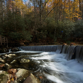 Fall break at North Carolina by CRISTINA  CASTRO - Landscapes Waterscapes ( waterfall, trees, sunrise )