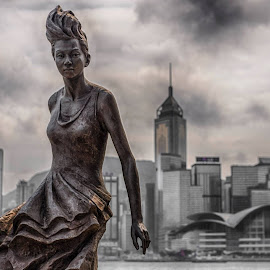 Anita Mui - The Siren of Hong Kong, her voice enchanted millions. by Gary Chin - Buildings & Architecture Statues & Monuments