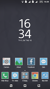 Paper Xperia Theme - screenshot