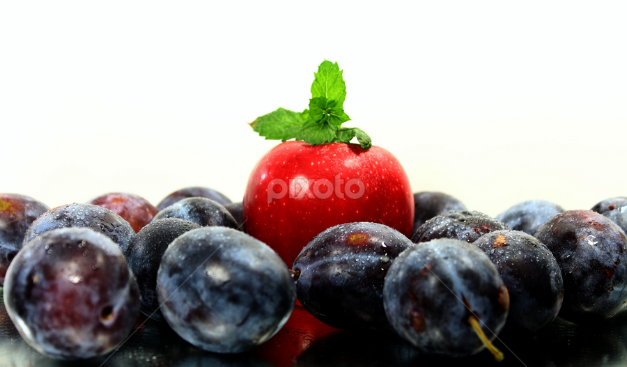 by Dipali S - Food & Drink Fruits & Vegetables ( fruit, red, apple, food, plums,  )